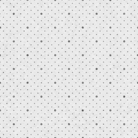 Dots background, old paper grunge texture. Seamless polka dot vintage pattern. Soft grey tender backdrop. Vector