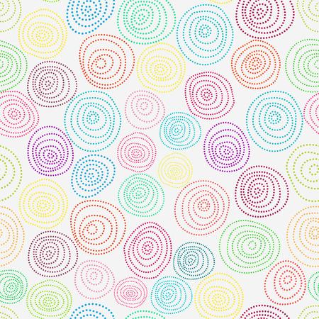 wallpaperrn: Seamless hand drawn pattern. Circles with dots vector illustration.