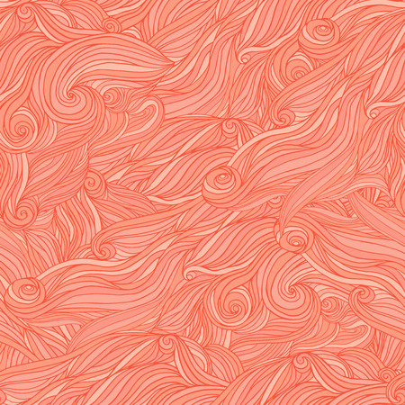 Seamless abstract hand-drawn pattern, tangle wavy hair background