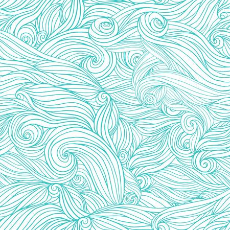 groviglio: Seamless abstract pattern disegnati a mano, groviglio sfondo capelli ondulati