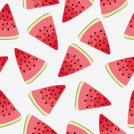 watermelon slice: Slices of watermelon. Seamless background. Illustration