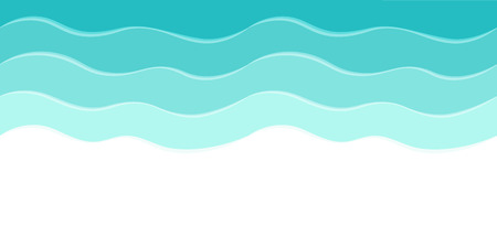 olas de mar: Mar de fondo del vector con las ondas abstractas