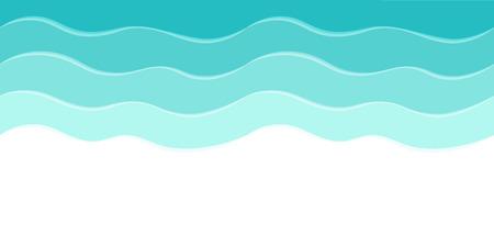 Vector zee achtergrond met abstract golven Stock Illustratie