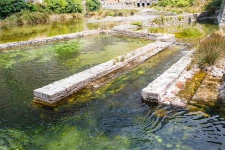 impregnable: The river Shkurda in Old Town of Kotor, Montenegro.