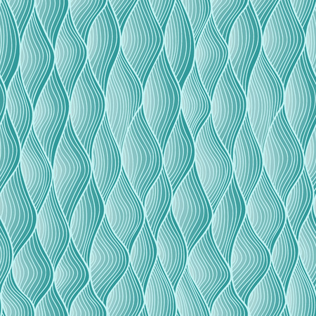 fluent: Blue abstract fish scale seamless hand-drawn pattern. Illustration