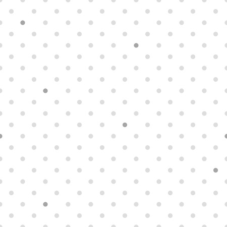 Simple seamless polka dot grey and white background