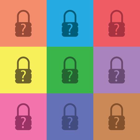 secret codes: illustration of modern icon lock