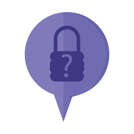 secret code: illustration of modern icon lock