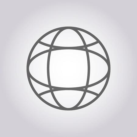 longitude: illustration of modern icon  planet