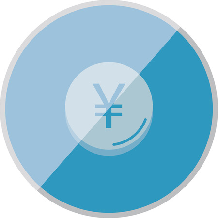credit union: illustration of modern icon currency