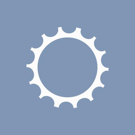gearing: vector illustration of modern icon bike cassettes Illustration