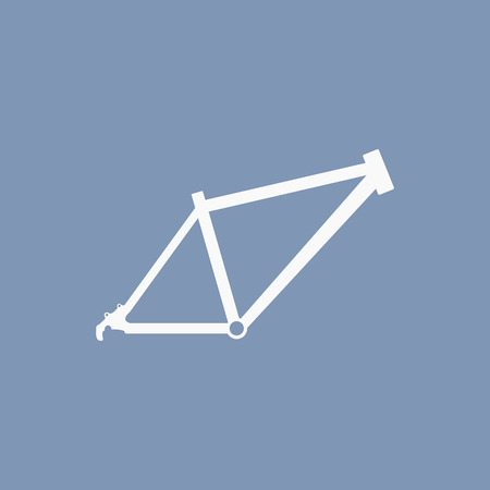 shifter: illustration of modern icon bicycle frame