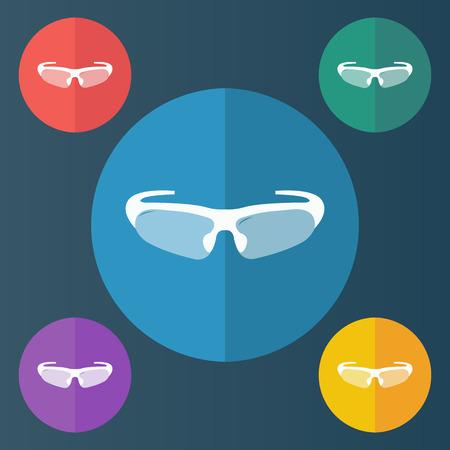 illustration of modern icon bike glasses Ilustração