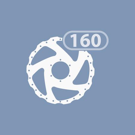 frenos: ilustración de frenos de bicicleta icono moderno
