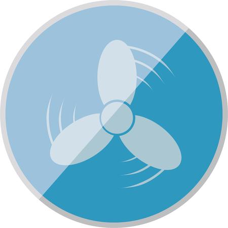 ventilation: vector illustration of modern icon ventilation