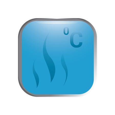 freezing: vector illustration of modern icon freezing Illustration