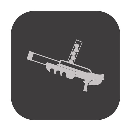 automaton: vector illustration of modern icon toy gun