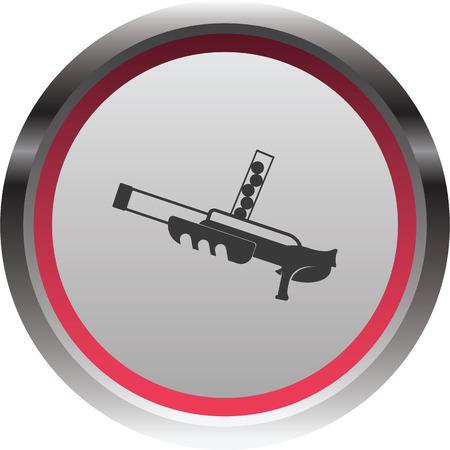automaton: vector illustration of modern icon toy gun