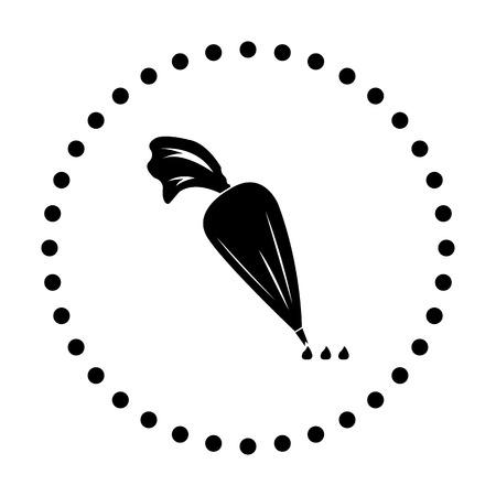 pasteles: ilustraci�n vectorial de la bolsa de icono de pasteler�a moderna