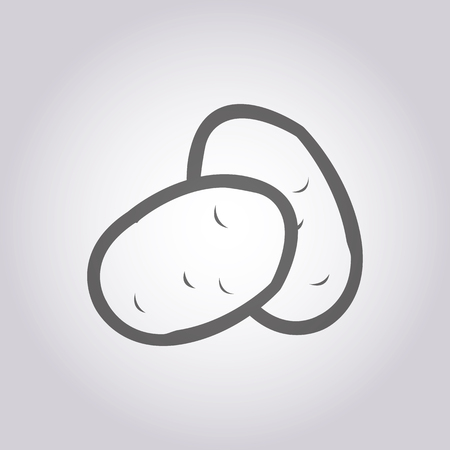 papas: ilustración vectorial de los modernos icono patatas