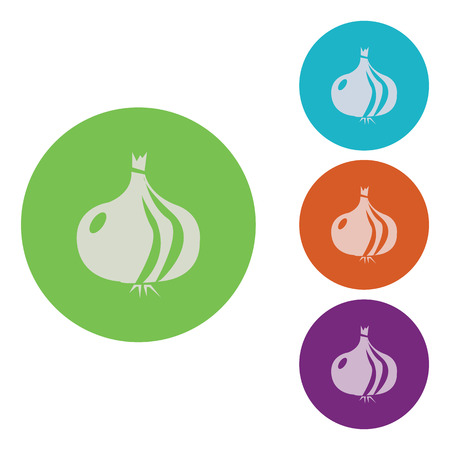 flavoring: vector illustration of modern icon onion Illustration