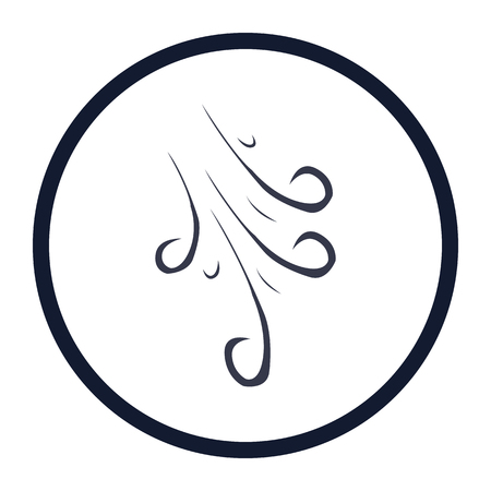 viento: ilustraci�n vectorial de icono moderno del viento
