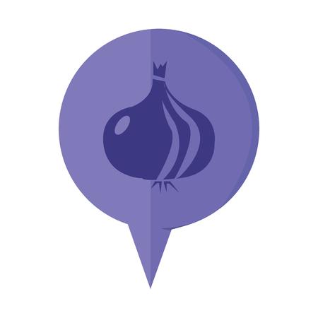 pictogramme: vector illustration of modern icon onion Illustration