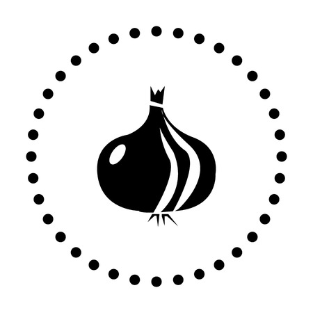vector illustration of modern icon onion Illustration