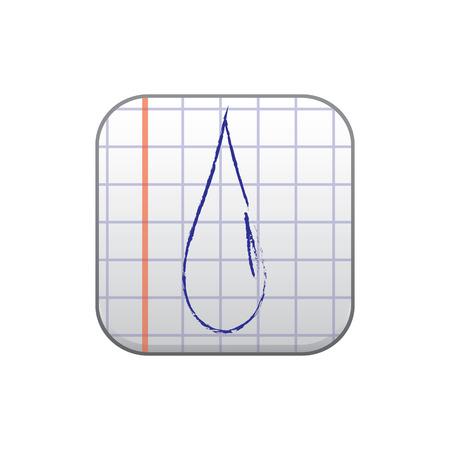 watter: vector illustration of modern icon watter