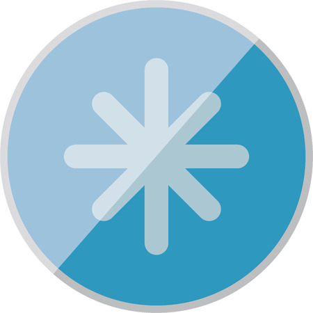 refrigeration: vector illustration of modern icon freezing Illustration