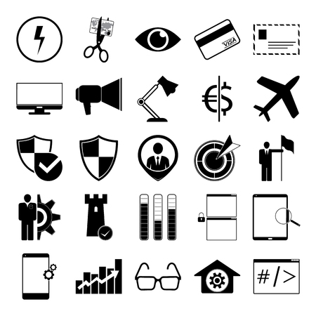 bussines: vector illustration of bussines vector set icon