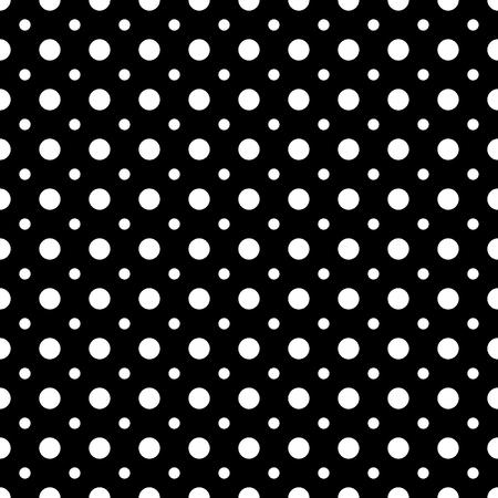 폴카 도트 흰색 원활한 패턴입니다. 패션 그래픽 배경 디자인입니다. 현대 세련 된 추상 텍스처입니다. 인쇄, 섬유, 포장, 벽지, 웹 사이트 등 흑백 템플 일러스트