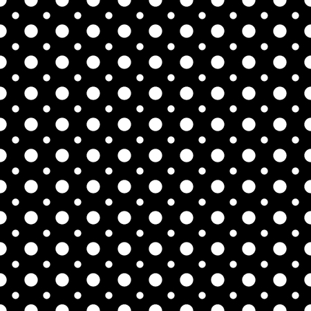 Polka dot white  seamless pattern. Fashion graphic background design. Modern stylish abstract texture. Monochrome template for prints, textiles, wrapping, wallpaper, website etc. VECTOR illustration Иллюстрация