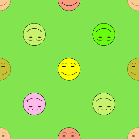 encode: Smile happiness sign  green background. Fashion graphic background design. Modern stylish abstract colorful texture. Template for prints, textiles, wrapping, wallpaper, website etc VECTOR illustration Illustration