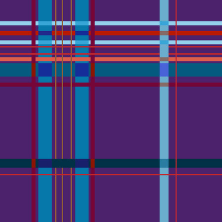 christmas plaid: Tartan lilac seamless pattern. Fashion graphic background design. Modern stylish abstract texture. Colorful template for prints, textiles, wrapping, wallpaper, website. VECTOR illustration Illustration