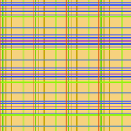 wallace: Tartan yellow seamless pattern. Fashion graphic background design. Modern stylish abstract texture. Colorful template for prints, textiles, wrapping, wallpaper, website. VECTOR illustration Illustration