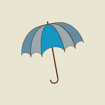 Umbrella color sign. Romantic icon health isolated. Design element. Colorful symbol of rain. Vector illustration