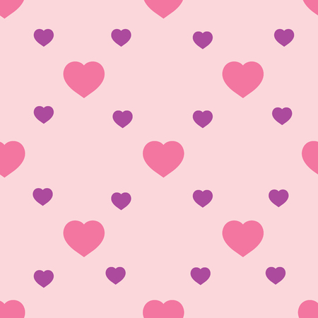 Heart lilac seamless pattern. Fashion graphic background design. Abstract texture. Colorful template for prints, textiles, wrapping, wallpaper, website etc. Vector illustration Illustration