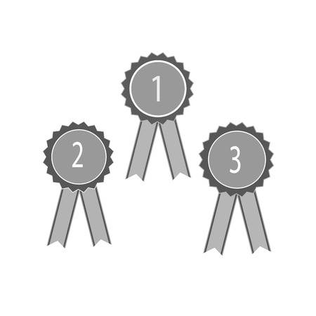 Ribbon award. Emblem modern symbol of award. Illustration