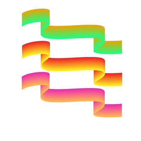 Ribbon color award sign. Emblem modern symbol of award. Blank sticker labeling. Elegant form of the logo for sale. Colorful template for badge, tag , wrapping etc. Design element. Vector illustration