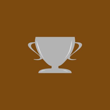 Cup reward. Modern symbol of victory and award achievement. Design element. Vector illustration