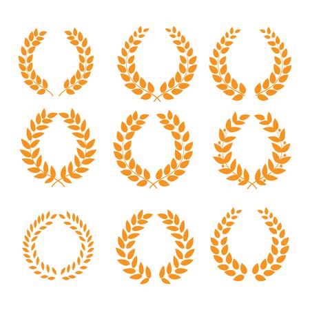 Wreath reward orange set