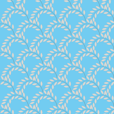 Twig on blue background. Fashion graphic background design. Modern stylish abstract texture. Colorful template for prints, textiles, wrapping, wallpaper, website etc. Vector illustration Illustration