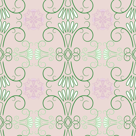 Abstract green seamless pattern. Fashion graphic background design. Modern stylish abstract texture.