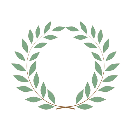 Laurel wreath olive reward. Modern symbol of victory and award achievement champion.