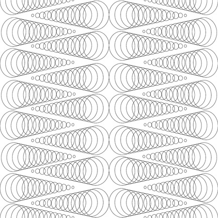 Spiral black on white background. Fashion graphic background design. Modern stylish abstract texture. Monochrome template for prints, textiles, wrapping, wallpaper, website. Vector illustration