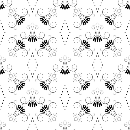 Abstract seamless pattern. Fashion graphic background design. Modern stylish abstract texture. Design monochrome template for prints, textiles, wrapping, wallpaper, website etc. Vector illustration Illustration