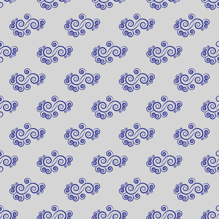 Spiral blue on blue background. Fashion graphic design. Modern stylish abstract texture. Colorful template for prints, textiles, wrapping, wallpaper, website, etc. Vector illustration Illustration