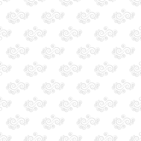 Spiral pastel seamless pattern. Fashion graphic design. Modern stylish abstract texture. Monochrome template for prints, textiles, wrapping, wallpaper, website, etc. Vector illustration