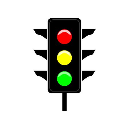 Stoplight sign icon Illustration